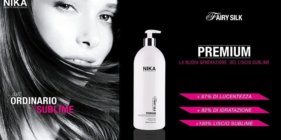Marcha mala Berenjena Tratamiento  Capelli lisci - Nika Premium Fairy Silk